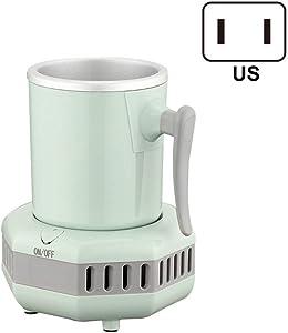 Meshin Smart Beverage Cooler Cup Fast Cooler Electric Cooling Mug Mini Desktop Refrigerator for Cola Wine Portable Desktop Smart Cup Cooler