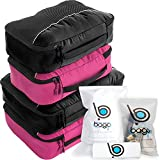 4 Travel Packing Cubes For Luggage/Suitcase + 6 Toiletry and laundry Organizers (DeepBlue)