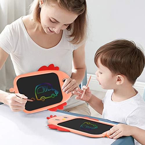 Tarnel 8.5 Zoll LCD Schreibtafel LCD Writing Tablel mit Bunter Schrift Grafiktabletts Schreibplatte Digital Schreibtafel Papierlos Maltafel Schule Graffitik Malen Notizen für Kinder