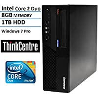 Lenovo ThinkCentre M58 Small Form Factor High Performance Business Desktop Computer (Intel Core 2 Duo 3.0GHz, 8GB RAM, 1TB HDD, VGA, DVD, Rj45, Windows 7 Professional) (Certified Refurbished)