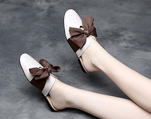 Baotou Slippers 40 B Color Slippers A Comfortable Size Sandals Sandals Flat Flat sandals Women Sandals Fashion xqBEwW