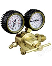 """BACOENG Nitrogen Gas Regulator with 0-500 PSI Delivery Pressure, CGA580 Inlet Connection and 1/4"""" Male Flare Outlet Connection HVAC Durable Brass Accurate and Dependable"""