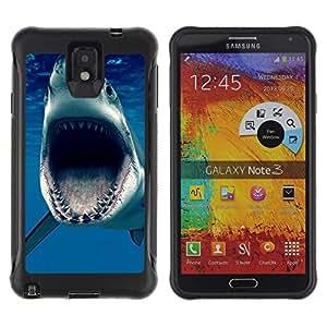 iKiki Tech / Estuche rígido - Jaws Shark Ocean Blue Sea Predator - Samsung Note 3