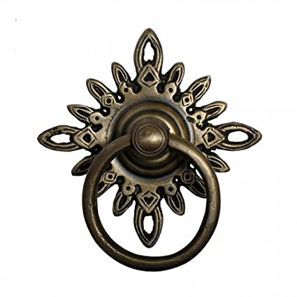 ring pulls 3 inch diameter unlacquered antique brass cabinet ring
