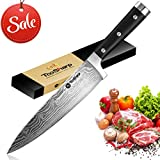 Chef Knife 8 inch - Japanese Professional Kitchen Knife - High Carbon Stainless Steel Sushi Knife with Ergonomic Handle