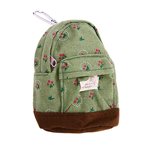 Bonaweite Mini Backpack Style Key Chain Coin Purse Pouch