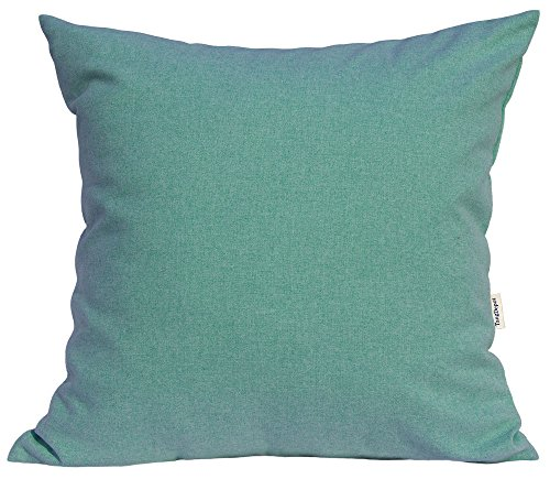"""TangDepot Solid Wool-like Throw Pillow Cover/Euro Sham/Cushion Sham, Super Luxury Soft Pillow Cases - Handmade - Many Colors & Sizes Avaliable - (16""""x16"""", Mint Green)"""
