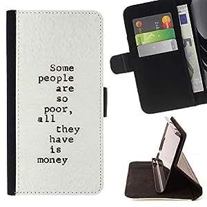 Momo Phone Case / Flip Funda de Cuero Case Cover - Writer Pauvre Inspiring - Samsung Galaxy Note 3 III