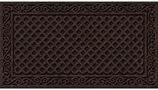 product image for Textures Iron Lattice Entrance Mat, 20-Inch by 36-Inch, Walnut