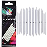 MEEDEN Blending Stumps Art Blenders Set of 2 for Sketch Drawing Blending and Smoothing Pastel Charcoal Graphite Colored Pencils