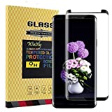 Galaxy S9 Plus Screen Protector,Galaxy S9 Plus Tempered Glass,Wattly [3D Curved Edge][Case Friendly][HD Clear] Tempered Glass Screen Protector for Samsung Galaxy S9 Plus-Black