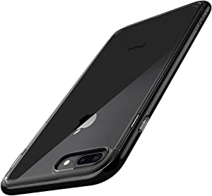 Spigen Neo Hybrid Crystal (2nd Generation) Designed for Apple iPhone 8 Plus Case (2017) / Designed for iPhone 7 Plus (2016) - Jet Black