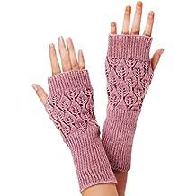 kingfansion Womens Unisex Fingerless Warm Gloves Arm Warmer Mitten