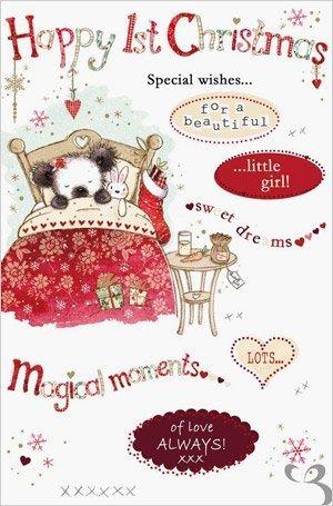 Little Girl's First Christmas Card