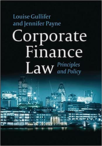 Corporate Finance Law: Principles and Policy: Amazon co uk