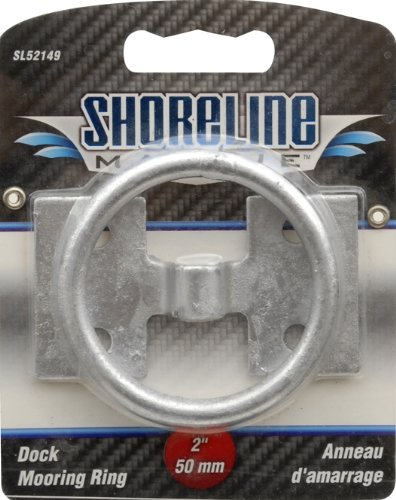 Shoreline Marine Dock Galvanized Mooring Ring, 2-Inch