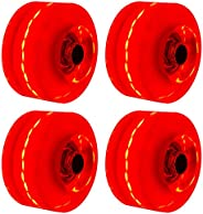 NINEFOX 4 Luminous LED Wheels for Four Wheel Skating,5 Colors Available, Accessories for Roller Skates, Light