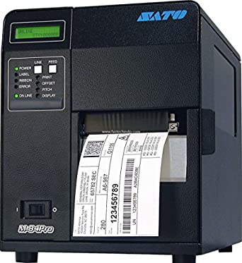Sato WM8420041 Series M84PRO Industrial Thermal Printer, 203 dpi Resolution, 10 IPS Print Speed, Ethernet Interface, DT/TT, 4.1""