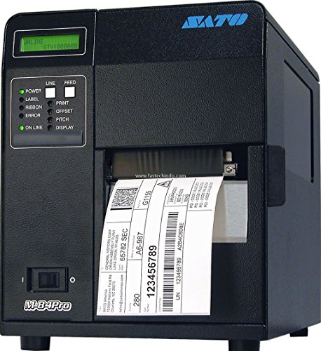 - Sato WM8420041 Series M84PRO Industrial Thermal Printer, 203 dpi Resolution, 10 IPS Print Speed, Ethernet Interface, DT/TT, 4.1
