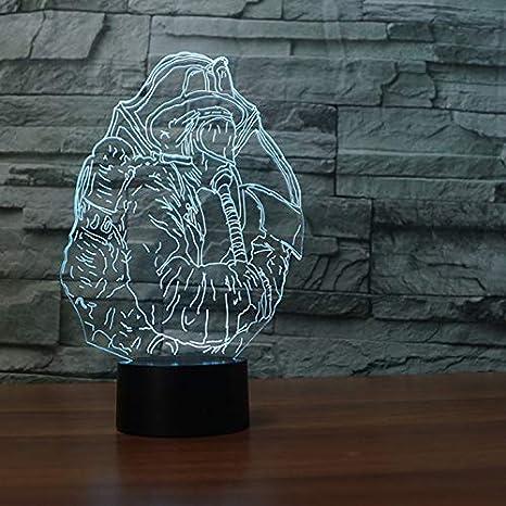 3D Sina Modelo Luz Luz Led Escritorio Lámpara De Mesa 7 Color ...