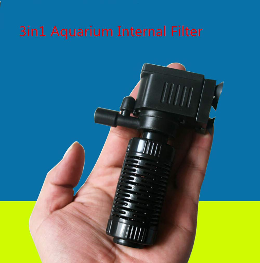 Amazon.com: Koolsants 1PC 3in1 2W Small Aquarium Internal Filter Oxygen Submersible Water Pump for Fish Tank Pond Accessories, 4.7 x 3.15inch, ...