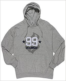 Rocawear 99 Mens Big Tall Pullover Hoodie Sweatshirt Heather Gray 4XB Apparel