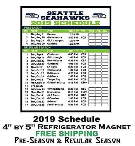 Seattle Seahawks Schedule: Amazon.com: Seattle Seahawks NFL Football 2019 Full Season