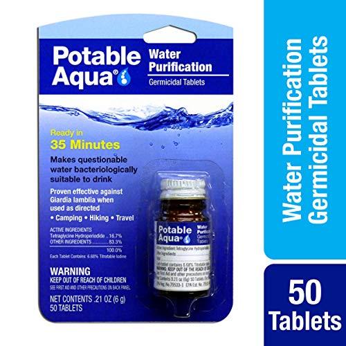Potable Aqua Germicidal Water Purification Tablets