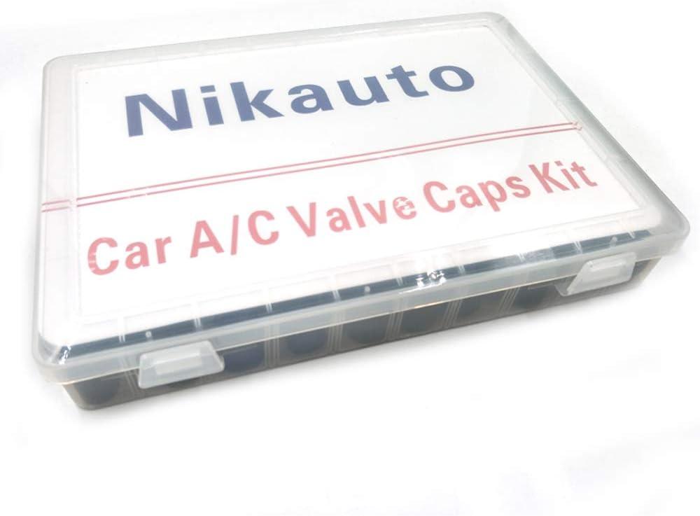 Nikauto 88pcs Lot 18 Arten von kfz-klimaanlagen-ventilkappen universal-r134 r12 luftventilkappe staubkappenset