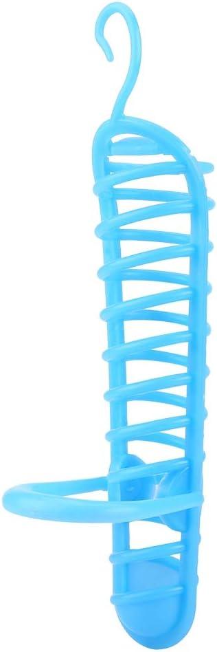Alimentador de Loros Canasta De Plástico Alimentador de Frutas Alimento Soporte para Soportes para Mascotas Aves Frutas Vegetales Contenedor de Mijo(Azul)