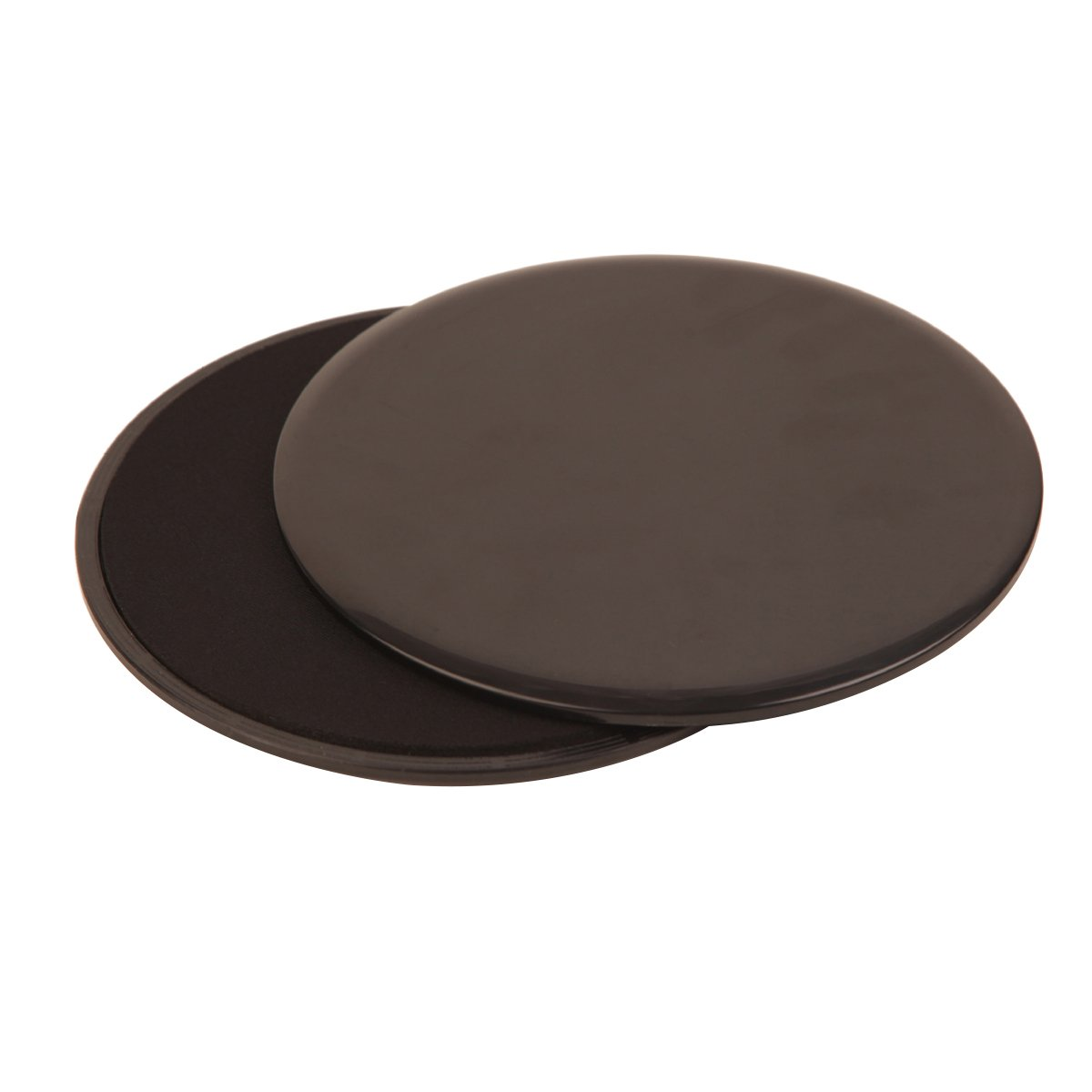 Flytool Gliding Discs Core Sliders Dual Sided Equipment Set of 2 for Carpet and Hardwood Floors, Black