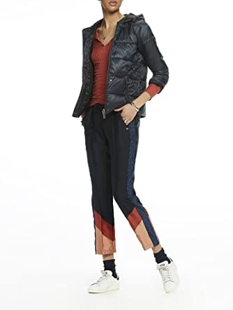 Scotch&Soda Reversible Puffer Jacket, Blouson Femme, (Navy 04), Large