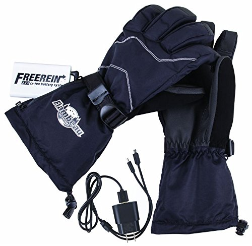 Flambeau F200-M 3.7V Rechargeable Heated Gloves Kit-Synthetic Palm, Black, Medium