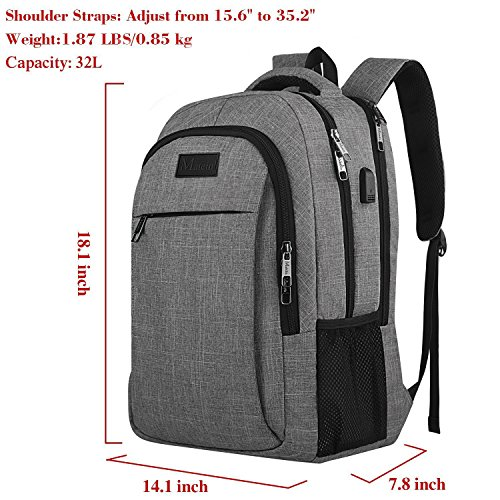 Matein Travel Laptop Backpack Business Anti Theft Slim