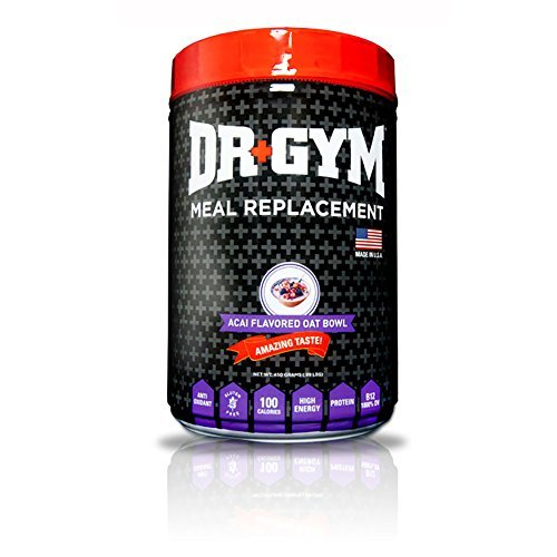 Dr. Gym Natural Meal Replacement Powder For Muscle Gains and Weight Loss. Feed Your Muscles With Healthy Carbs From Oats, Yams, Sweet Potato, Minerals and Vitamins