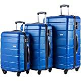 Merax MT Imagine 3 Piece Luggage Set Spinner Suitcase 20 24 28inch (Blue)