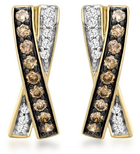 Carissima Gold - Boucles d'oreille - Femme - Or jaune (9 cts) 1.5 Gr - Diamant