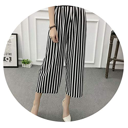 Autumn shallow Fate Summer Wide Leg Pants Casual Loose High Elastic Waist Harem Pants,F,One Size