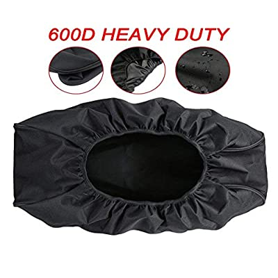 Deluxe Heavy Duty Winch Cover Waterproof, Dust-Proof Winch Protective Cover with Elastic Band Fits Most Electric Winches from 8,500 to 17,500 Lbs 21.5