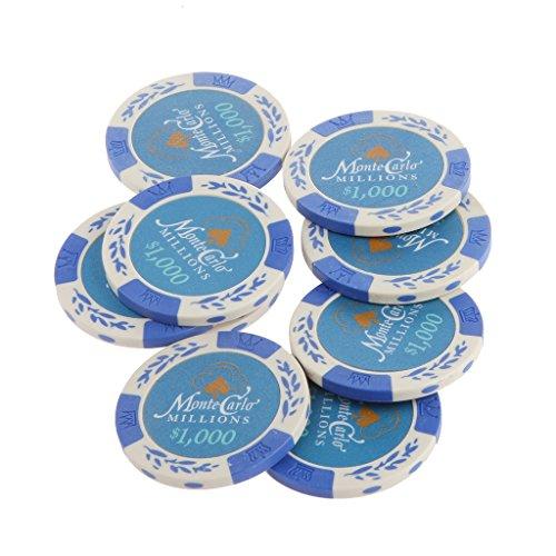 Baoblaze 約20枚 カジノチップ モンテカルロ ポーカーチップ 10000/5000/1000/100/1 素晴らしい - 1000の商品画像