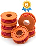Garden Ninja 10-ft Edger/Trimmer Spool Line Compatible with WORX WA0010. Original Quality, Guaranteed Fit, 6-Pack