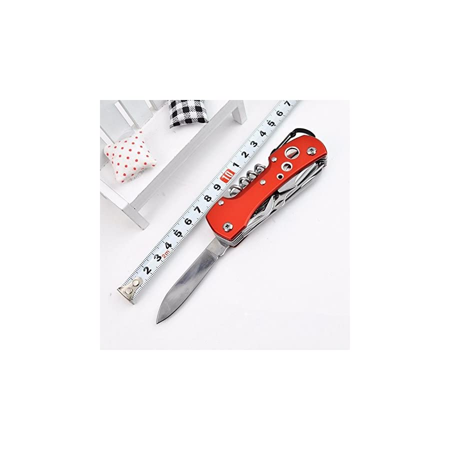 Swiss Style Army Pocket Knife By Grand Harvest 14 multi function pocket knife For Every Day use including Outdoor, Rescue and Survival