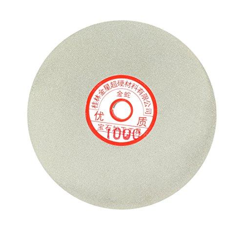 uxcell 6-inch Grit 1000 Diamond Coated Flat Lap Wheel Grinding Sanding Polishing Disc