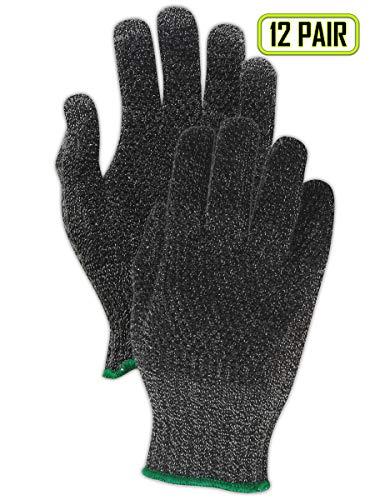 (MAGID CutMaster XKS200PR Yarn Glove, PVC Coating, Knit Wrist Cuff, Size 6 (12 Pair))
