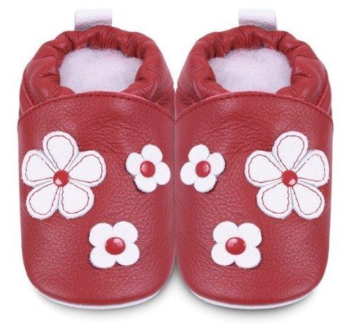 Zapatillas Bebé Flor Rojo Talla:18-24 meses