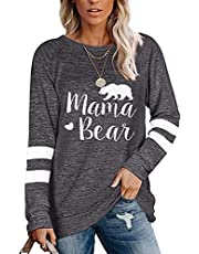 Famulily Women's Long Sleeve Color Block Sweatshirts Pullover Casual Tunic Tops