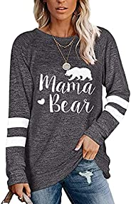 Famulily Women's Long Sleeve Color Block Sweatshirts Pullover Casual Tunic