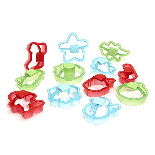 Sweet Creations Plastic Holiday Cookie Cutters with Handle, - Cutters Christmas Plastic Cookie
