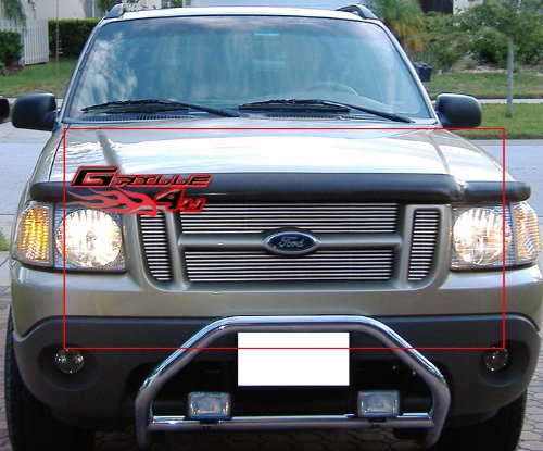 (APS F85053A Polished Aluminum Billet Grille Replacement for select Ford Explorer Sport Trac Models)
