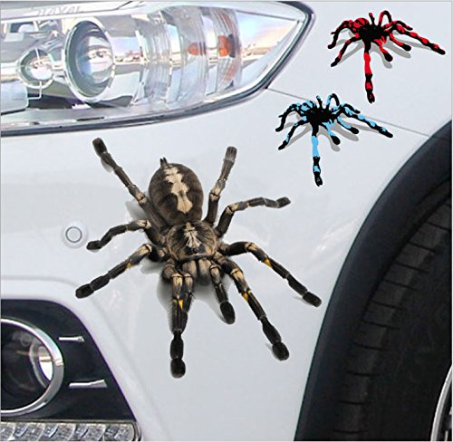 3D Lifelike Spider Car Stickers Decals Car Reflective Terror Spider Car Stickers For BMW Audi Ford Volkswagen Toyota Stickers …
